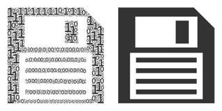 Σύνθεση δισκετών των δυαδικών ψηφίων απεικόνιση αποθεμάτων