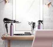 Σύνθεση εργαλείων Hairdress απεικόνιση αποθεμάτων