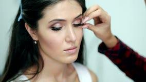 Σύνθεση 'Εφαρμογή' mascara eyelashes πολύ απόθεμα βίντεο