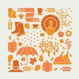 Σύνθεση ημέρας των ευχαριστιών Στοκ Φωτογραφίες