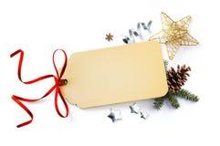 Σύνθεση διακοπών Χριστουγέννων  Κάρτα Χριστουγέννων, κλάδοι δέντρων έλατου Στοκ φωτογραφία με δικαίωμα ελεύθερης χρήσης