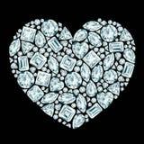 Σύνθεση διαμαντιών καρδιών διανυσματική απεικόνιση