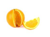 Σύνθεση καρπού, μια φέτα του πορτοκαλιού και πορτοκάλι Στοκ Εικόνες