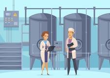 Σύνθεση κινούμενων σχεδίων γαλακτοκομικής παραγωγής ελεύθερη απεικόνιση δικαιώματος