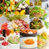 Σύνθεση κολάζ σαλάτας που τοποθετείται στο πλαίσιο Στοκ εικόνες με δικαίωμα ελεύθερης χρήσης