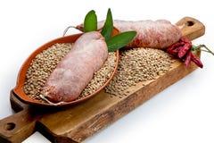 Σύνθεση κρέατος cousine τροφίμων, συστατικό για την κατανάλωση Στοκ εικόνα με δικαίωμα ελεύθερης χρήσης
