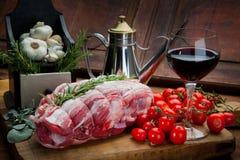 Σύνθεση κρέατος cousine τροφίμων, συστατικό για την κατανάλωση Στοκ Εικόνες