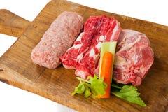 Σύνθεση κρέατος cousine τροφίμων, συστατικό για την κατανάλωση Στοκ φωτογραφία με δικαίωμα ελεύθερης χρήσης
