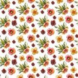 Σύνθεση λουλουδιών Watercolor απεικόνιση αποθεμάτων