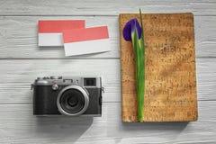 Σύνθεση με τις επαγγελματικές κάρτες Στοκ φωτογραφίες με δικαίωμα ελεύθερης χρήσης