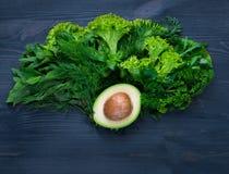 Σύνθεση με το αβοκάντο και τα λαχανικά Στοκ Εικόνα