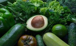 Σύνθεση με το αβοκάντο και τα λαχανικά Στοκ Εικόνες