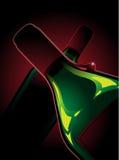 Δύο μπουκάλια του κόκκινου κρασιού διανυσματική απεικόνιση