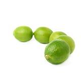 Σύνθεση πέντε φρούτων ασβεστών που απομονώνεται πέρα από Στοκ φωτογραφία με δικαίωμα ελεύθερης χρήσης