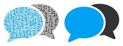 Σύνθεση συνομιλίας φόρουμ των δυαδικών ψηφίων διανυσματική απεικόνιση