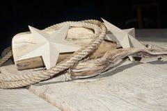 σύνθεση Σχοινί Αστέρια χαρτονιού Στοκ φωτογραφίες με δικαίωμα ελεύθερης χρήσης