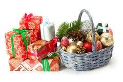 Σύνθεση της διακόσμησης Χριστουγέννων στοκ εικόνες
