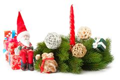 Σύνθεση της διακόσμησης Χριστουγέννων στοκ φωτογραφίες