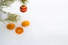 Σύνθεση του νέου έτους στο χιόνι Στοκ Εικόνα