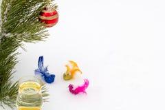 Σύνθεση του όμορφου νέου έτους Στοκ Εικόνα