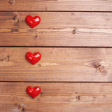 Σύνθεση τριών καρδιών Στοκ Εικόνα