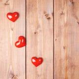 Σύνθεση τριών καρδιών Στοκ Εικόνες