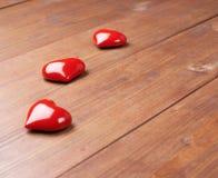 Σύνθεση τριών καρδιών Στοκ φωτογραφίες με δικαίωμα ελεύθερης χρήσης