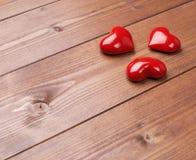 Σύνθεση τριών καρδιών Στοκ φωτογραφία με δικαίωμα ελεύθερης χρήσης
