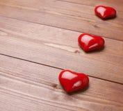 Σύνθεση τριών καρδιών Στοκ Φωτογραφίες