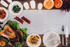 Σύνθεση τροφίμων για την ημέρα των ευχαριστιών Στοκ εικόνες με δικαίωμα ελεύθερης χρήσης