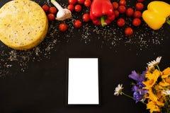 Σύνθεση τροφίμων των γαστρονομικών προϊόντων Στοκ Εικόνες