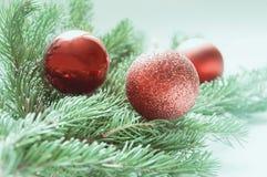Σύνθεση των διακοσμήσεων Χριστουγέννων Στοκ εικόνες με δικαίωμα ελεύθερης χρήσης