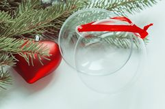 Σύνθεση των διακοσμήσεων Χριστουγέννων Στοκ Φωτογραφία
