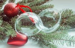 Σύνθεση των διακοσμήσεων Χριστουγέννων Στοκ φωτογραφίες με δικαίωμα ελεύθερης χρήσης