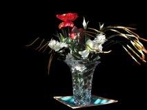 Σύνθεση των λουλουδιών στο μαύρο υπόβαθρο Στοκ εικόνες με δικαίωμα ελεύθερης χρήσης