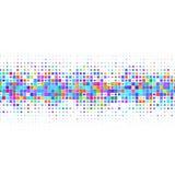 Σύνθεση των χρωματισμένων τετραγώνων που κεντροθετούνται σε ένα άσπρο υπόβαθρο απεικόνιση αποθεμάτων