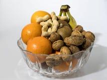 Σύνθεση φρούτων σε ένα γυαλί κρυστάλλου Στοκ Εικόνα