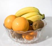 Σύνθεση φρούτων σε ένα γυαλί κρυστάλλου Στοκ Φωτογραφία