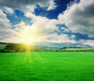 Σύνθεση φύσης βουνών Στοκ Φωτογραφίες
