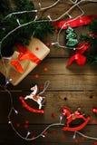 Σύνθεση Χριστουγέννων με τα φω'τα Χριστουγέννων Στοκ φωτογραφία με δικαίωμα ελεύθερης χρήσης