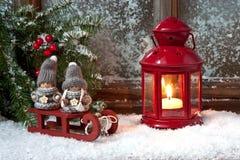 Σύνθεση Χριστουγέννων με το φανάρι Στοκ εικόνες με δικαίωμα ελεύθερης χρήσης
