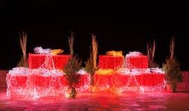 Σύνθεση Χριστουγέννων νύχτας Στοκ φωτογραφία με δικαίωμα ελεύθερης χρήσης