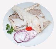 Σύνθεση ψαριών cousine τροφίμων, συστατικό για την κατανάλωση Στοκ Εικόνες