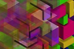 Σύνθεση Colorist για τον κομψό τοίχο ελεύθερη απεικόνιση δικαιώματος