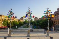 Σύνθετα δέντρα τέχνης καταρρακτών Jerevan στοκ φωτογραφία με δικαίωμα ελεύθερης χρήσης