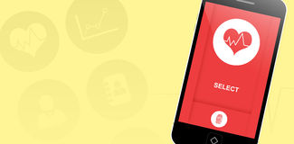 Σύνθετη εικόνα ιατρικό app Στοκ φωτογραφία με δικαίωμα ελεύθερης χρήσης