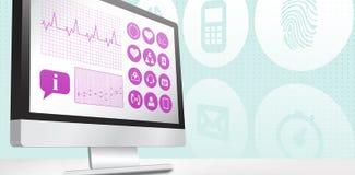 Σύνθετη εικόνα ιατρικό app διανυσματική απεικόνιση