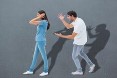 Σύνθετη εικόνα να φωνάξει φίλων στη φίλη Στοκ φωτογραφία με δικαίωμα ελεύθερης χρήσης