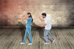 Σύνθετη εικόνα να φωνάξει φίλων στη φίλη Στοκ εικόνα με δικαίωμα ελεύθερης χρήσης