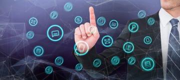 Σύνθετη εικόνα ο επιχειρηματίας που δείχνει το δάχτυλό του Στοκ φωτογραφία με δικαίωμα ελεύθερης χρήσης